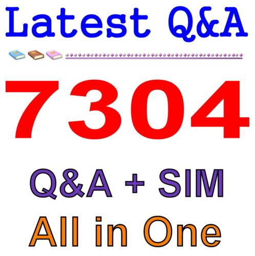 Avaya CallPilot Maintenance 7304 Exam Q/&A PDF+SIM