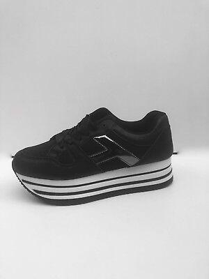 baskets plateforme femme compensées noir paillette taille du 36 au 41   eBay