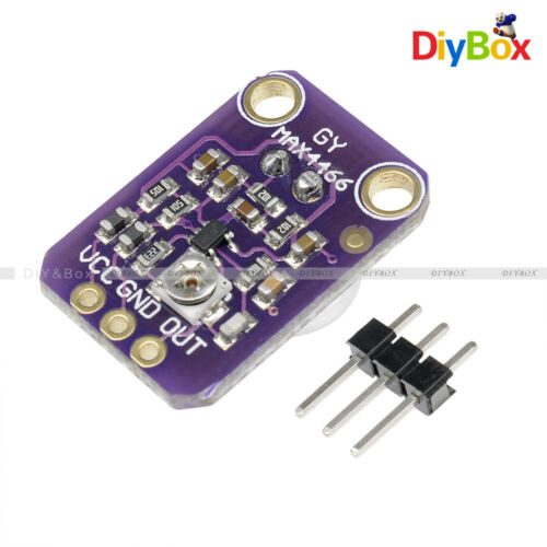 Adjustable GY-MAX4466 Electret Microphone Amplifier with Gain for Arduino