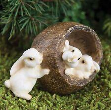 Miniature Fairy Garden Rabbits in a Walnut - Buy 3 Save $5