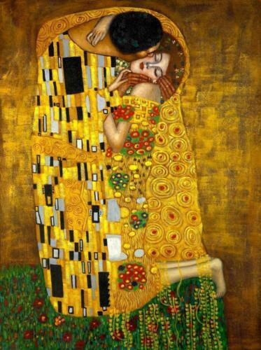 A4 laminated Gustav Klimt The Kiss old  posters