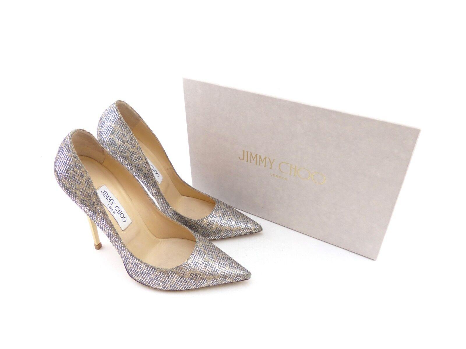 Jimmy CHOO ANOUK CHAMPAGNE Leopardato tessuto glitter [47% RRP] RRP] RRP] | Fashionable  91ff89