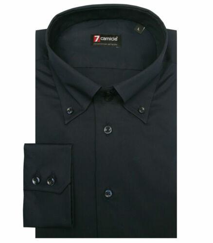 Camicia Uomo 2 Bottoni Button Down Slim POPELINE STRETCH UNITO B 7camicie 3584