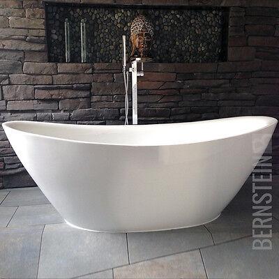 BERNSTEIN Design Badewanne Freistehende Wanne BELLAGIO  ACRYL Armatur