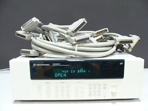 Agilent / Keysight 34980A Switch / Measure Mainframe 8 x 34922A 70ch Multiplexer