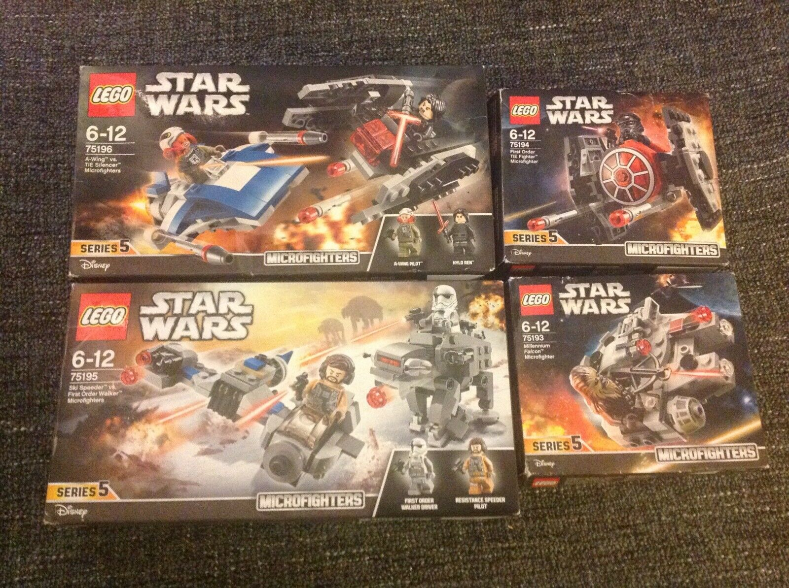 Lego Star Wars Microfighters Series 5 Complete Sets - 75193,75194,75195,75196
