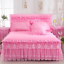 thumbnail 1 - 1 Piece Lace Bed Skirt +2pieces Pillowcase Bedding Bed For Cover King/Queen size