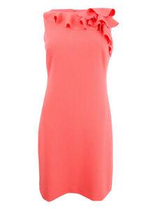 Lauren-by-Ralph-Lauren-Women-039-s-Ruffled-Crepe-Dress