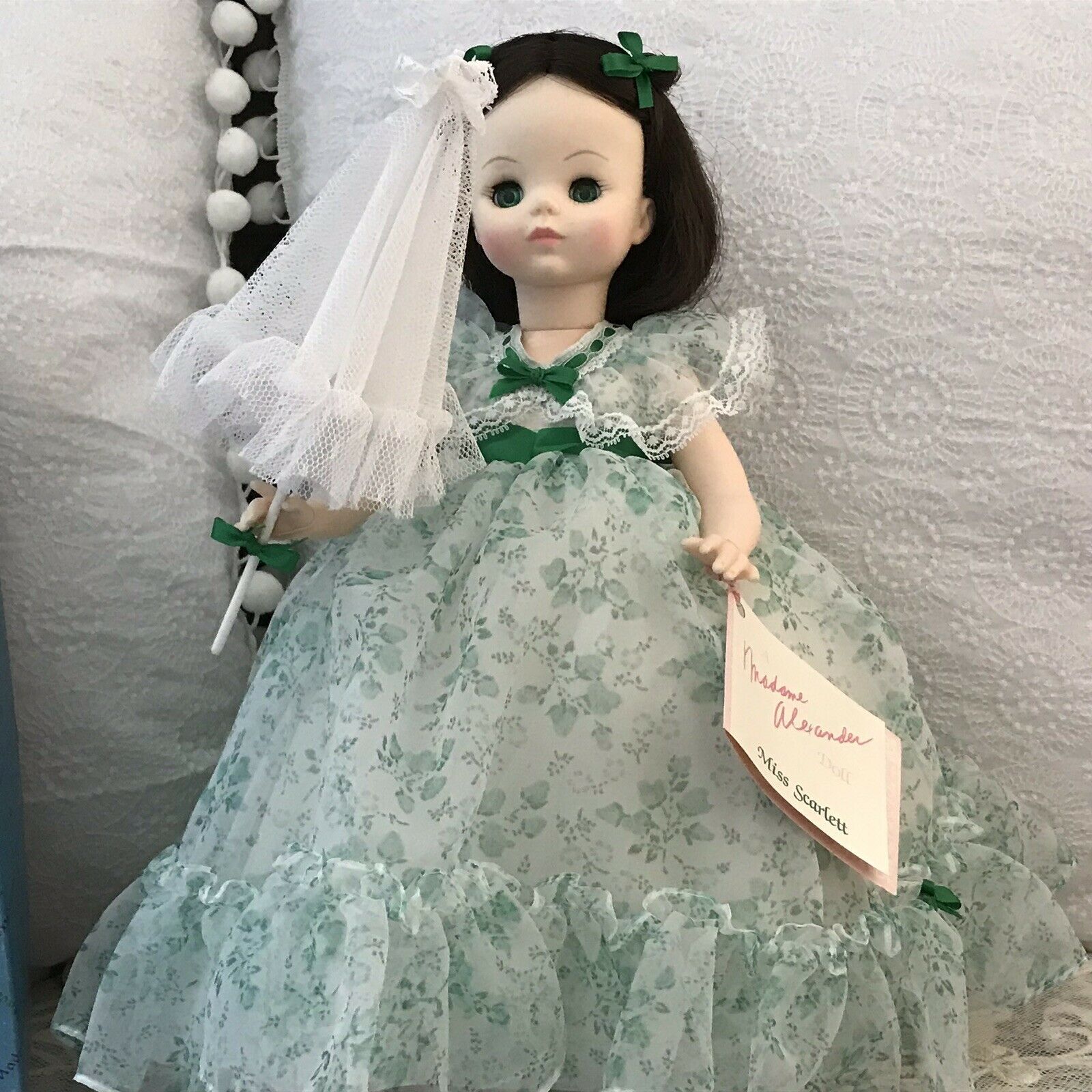 "Vintage Miss Scarlett Madame Alexander Doll B1988 14"" In Box"