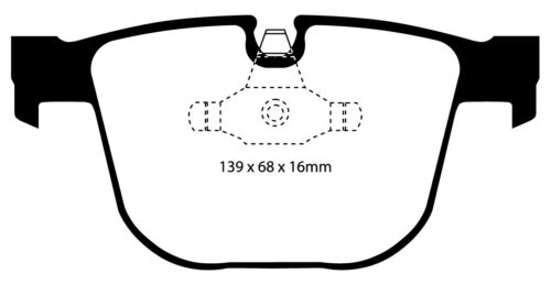 NEW EBC 345mm REAR BRAKE DISCS AND YELLOWSTUFF PADS KIT OE QUALITY PD03KR173