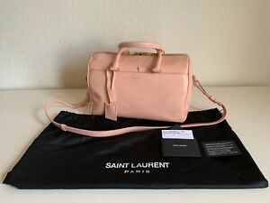 Details About Ysl Pink Leather Classic Duffle Mini