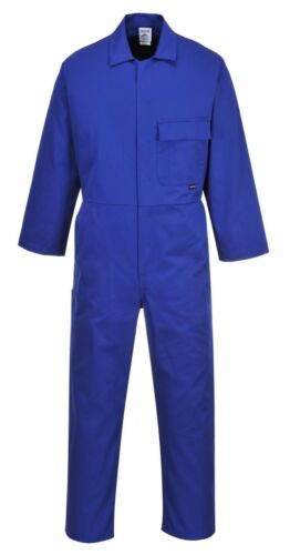 *DISCOUNT* PORTWEST Standard Boilersuit Overal Coverall Stud Front Comfort C802