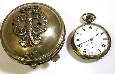 Military World War I Bulgarin Royal Army Officer Presentation Swiss Pocket Watch