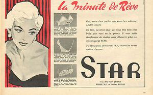 3df0e9cf9892b Détails sur Publicité Advertising 1957 Lingerie STAR soutien gorge slip  gaine sous vetement
