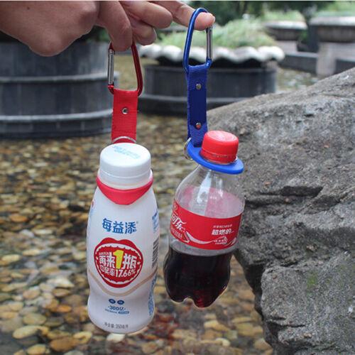 Water Bottle Holder Hook Belt Clip Buckle with Keyring Hiking Carabiner LH