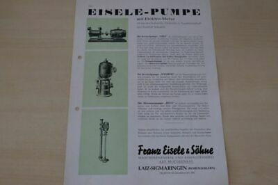 Prospekt 09/1949 Up-To-Date Styling Strict 198018 Eisele Pumpe