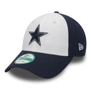 Cappellino-Visiera-Curva-New-Era-Dallas-Cowboys-Bianco-e-Blu-Uomo-Donna-Unisex