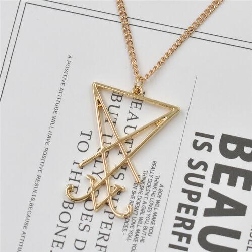 Vintage Talisman de Lucifer Satan Collier Emblème Amulette Charms Chaîne Pour Hommes Femmes