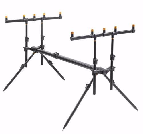 Rod Pod Rutenständer für bis zu 4 Ruten mit gepolsterter Tasche Neu Rodpod