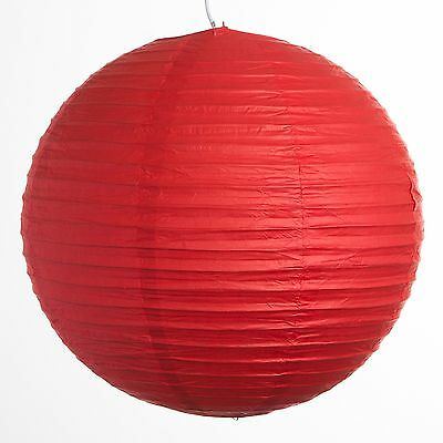 "Red Paper Party Wedding Lanterns - 10"", 12"", 14"", 16"", 20"" and 24"" sizes"
