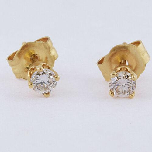 Diamant Boucles D/'Oreilles 14kt or massif 0.10cts