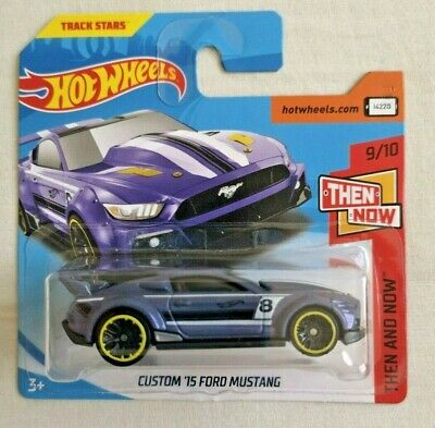 Hot Wheels Custom '15 Ford Mustang Neu Card Hw Then And Now Sealed Track Stars Elegant Im Geruch Modellbau