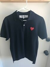 Comme des Garcons Play Authentic Polo Size Small Navy $195 Retail