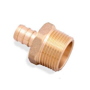 "( 10 pcs ) 1/2"" PEX x 1/2"" Male NPT Threaded Adapter - Brass Crimp Fitting"