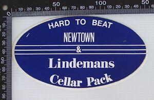 VINTAGE-NEWTOWN-JETS-LINDEMANS-WINES-CELLAR-PACK-ADVERTISING-PROMO-STICKER
