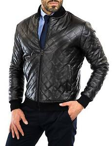 Giacca-Giubbotto-Uomo-in-di-PELLE-100-Men-Leather-Jacket-Veste-Homme-Cuir-22q