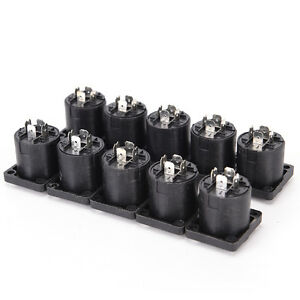 10X4Pin-Speakon-Female-Jack-Socket-Connettore-Audio-Altoparlante-Amplificatore