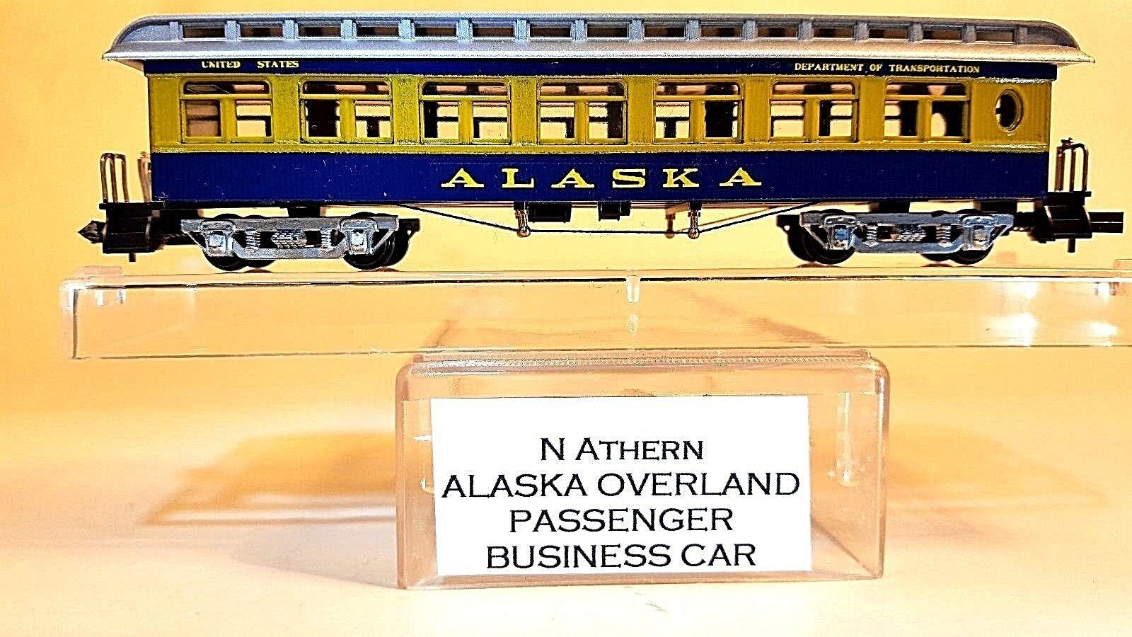 N Athearn Alaska Overland Passenger Business Car  Custom Painted
