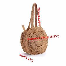 item 7 Summer Women Round Beach Vacation Straw Shoulder Bag Handbag Tote  Crochet Bag UK -Summer Women Round Beach Vacation Straw Shoulder Bag  Handbag Tote ... d3acefc497