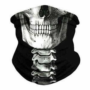 Kragen Schlauch Hals Bandana Schoner Moto Bike Pirate Skull