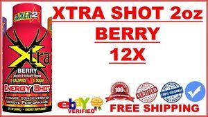 12X-Stacker-2-Xtra-Energy-Supplement-Shot-2oz-BERRY-Flavor-Lot-of-12X-10-2019