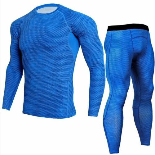 Men T-Shirt Pants Running Set Tops Gym Fitness Exercise Sports Tight 2018 Newest