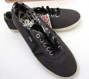 7281d1a6e2 Vans Women s Pewter Black Lace-Up Animal Print Lined Casual Canvas ...