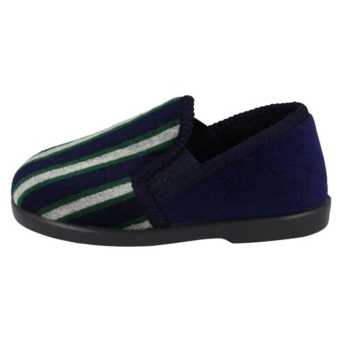 Boys Striped Front Slippers Anthony