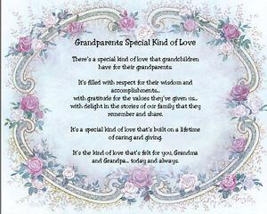 grandparents special kind of love sentimental matted print gift ebay
