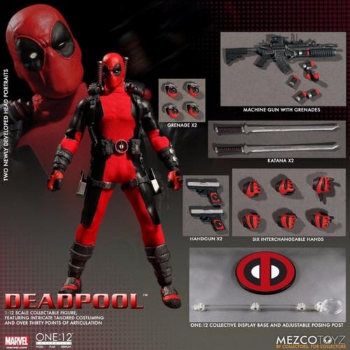 Marvel mezco für deadpool  12 - skala action - figur