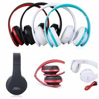 Foldable Wireless Bluetooth Stereo Headset Handsfree Headphone for iPhone LOT WP