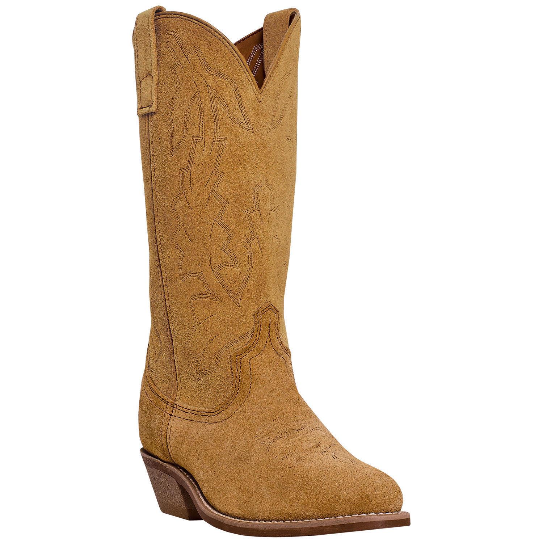 Laredo 01-68216-WH3 Men's Drew 13  Natural Suede Cowboy Boots R Toe
