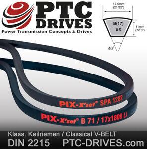 Li = inner length 17x//B Section V-Belts DIN 2215 from 510 to 7620 MM length