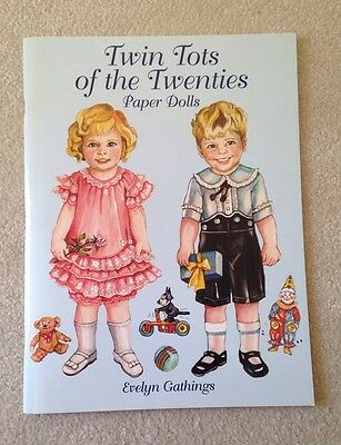 Twin Tots of the Twenties Paper Dolls by Evelyn Gathings (2000, Paperback) New!