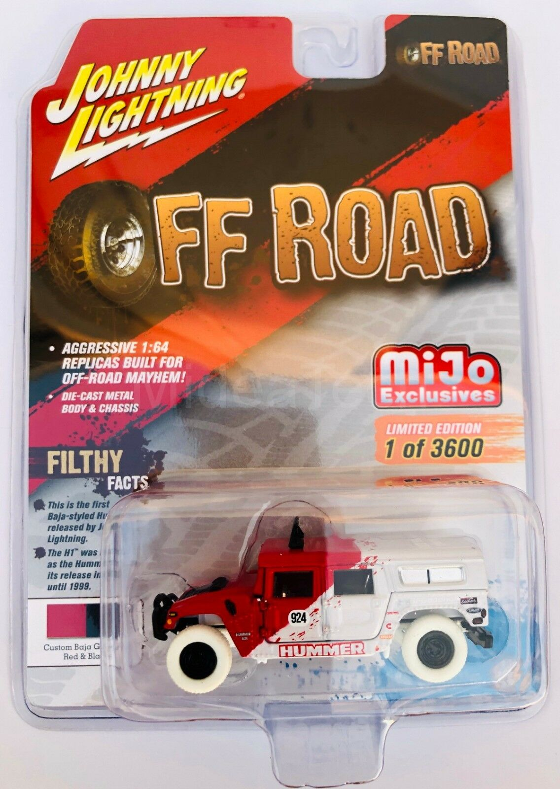 Johnny Lightning Off-Road Hummer H1 Wagon 1 64 Diecast Chase coche jlcp 7154