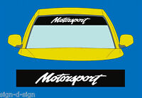 MOTORSPORT SUNSTRIP DECALS GRAPHICS STICKER choose any 2 colours from list