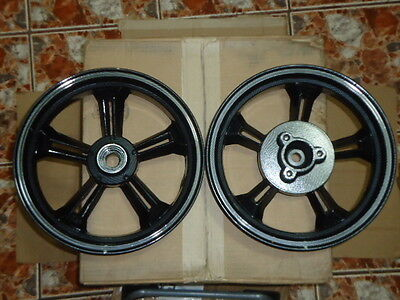 "SCOOTER GY6 150CC CARBON FIBER RIMS WHEELS 13"" X 3.50 FRONT AND REAR DISC BRAKE"
