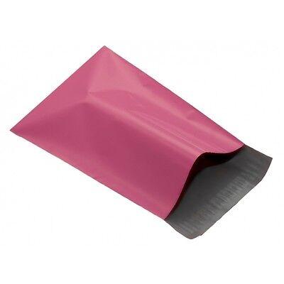 50x Plastica Rosa Buste In Plastica Per Spezione 10x14 mm 10 x 14 250x350mm poli