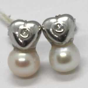 White-Gold-Earrings-750-18K-White-Pearls-7-MM-Diamonds-Hearts-Heart