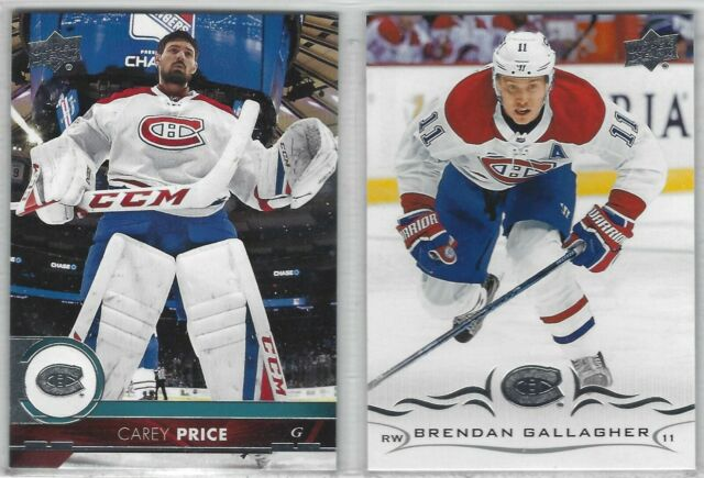 MONTREAL CANADIENS 14 Hockey Card Lot ~ ALL DIFFERENT!! Carey PRICE Gallagher +